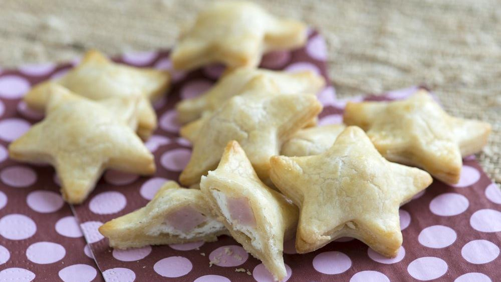 Mini Ham and Goat Cheese Star Pies