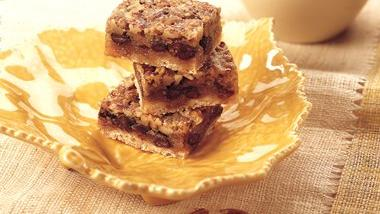 Chocolate Chip-Pecan Pie Bars