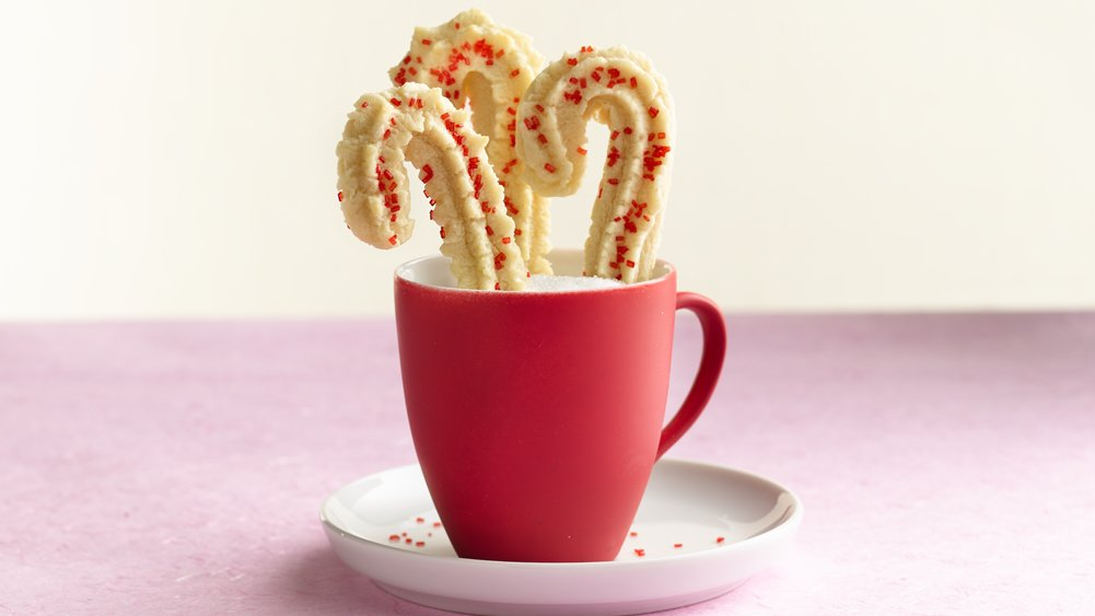 Easiest Ever Peppermint Spritz Cookies