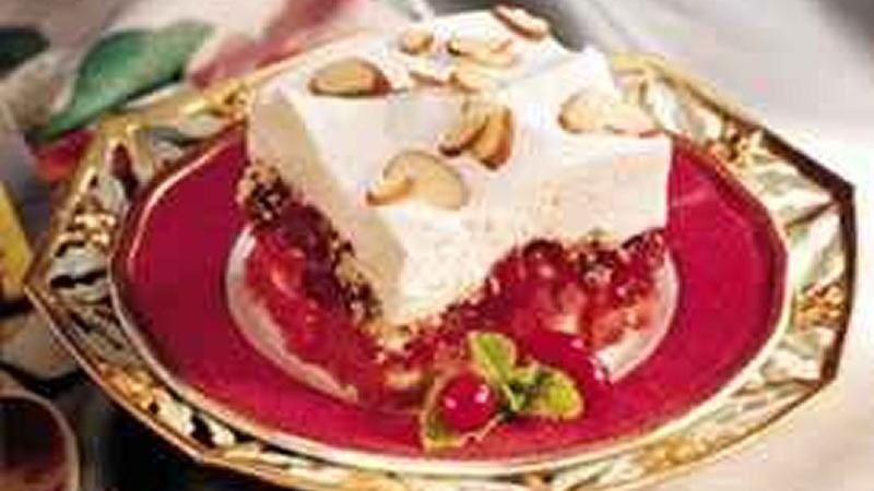 Cranberry Trifle Squares