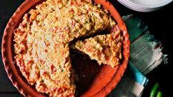 Pan de Elote con Jamón y Chile Verde
