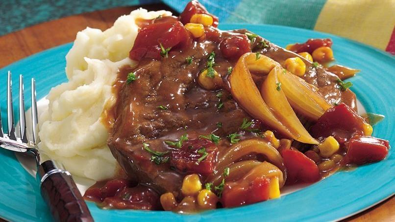 Oven-Barbecue Swiss Steak