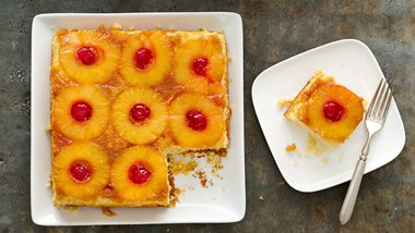 Skinny Pineapple Upside-Down Cake