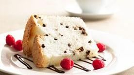 Low-Fat Chocolate Chip Angel Food Cake recipe - from Tablespoon!