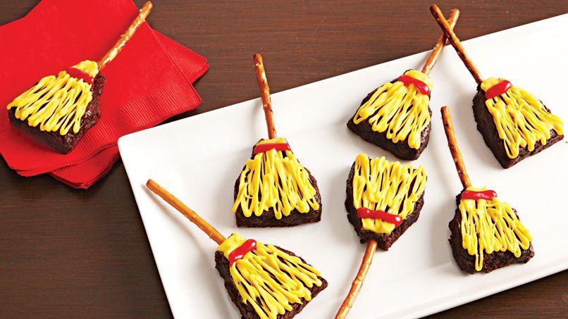 Witch's Broom Brownie Treats