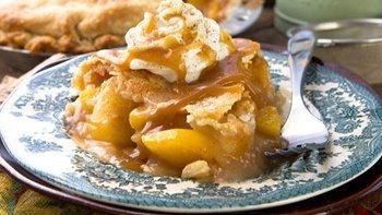 Spiced Bourbon Peach-Apple Pie