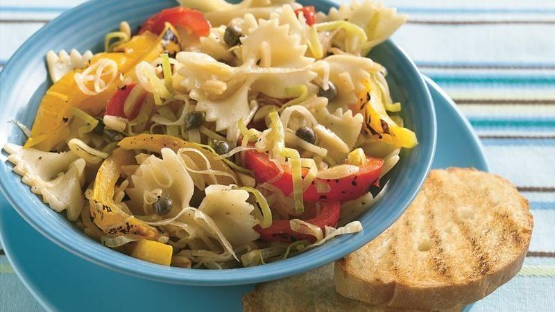Lemony Leeks and Pasta Salad