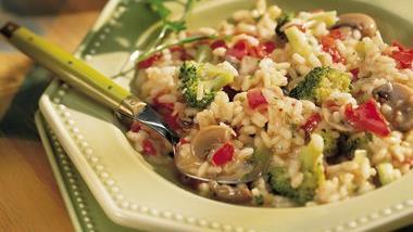 Red Pepper and Broccoli Risotto