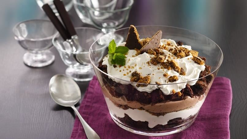Brownie and Yogurt Chocolate Trifle