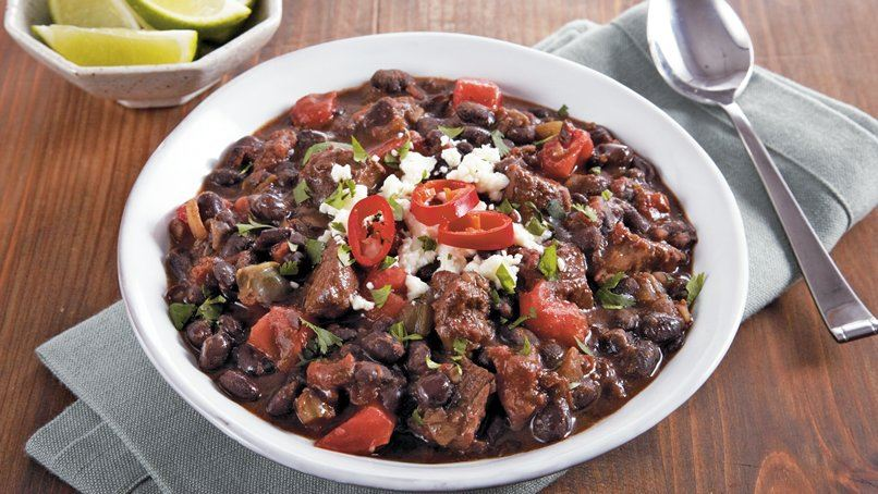 Slow-Cooker Steak and Black Bean Chili