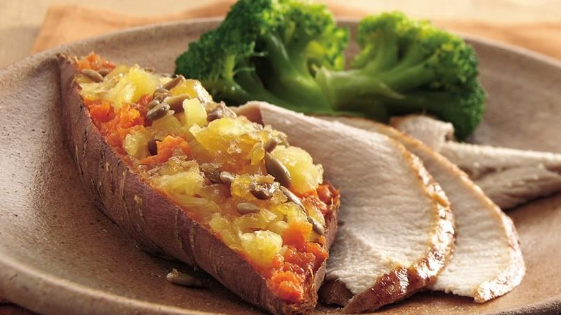 Pineapple-Topped Sweet Potatoes