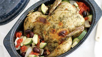 Slow-Cooker Pesto Chicken with Vegetables