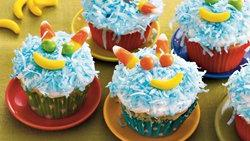 Hairy Monster Cupcakes