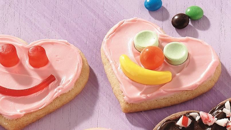 Sweetheart Face Cookies