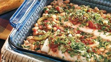 Salsa Cod with White Beans