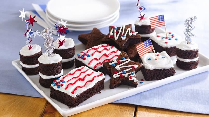 Stars and Stripes Brownies