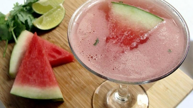 Watermelon Cilantro Margaritas