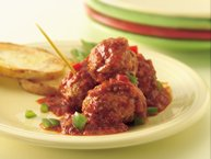 Slow-Cooker Meatballs with Roasted Red Pepper Sauce