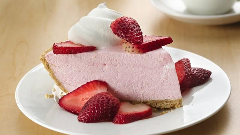 Light Cheesecake with strawberry jam recipe