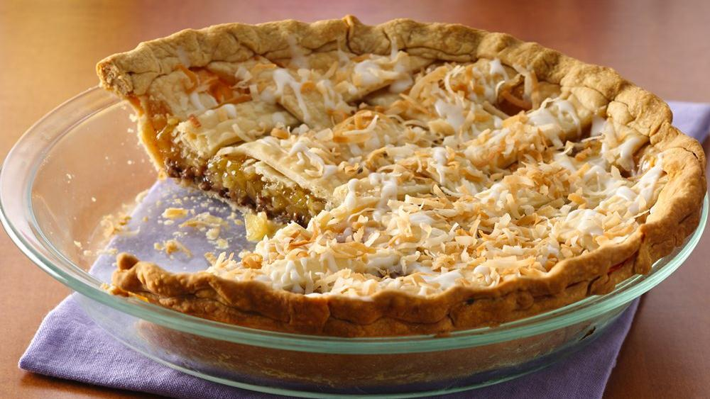 Pineapple-Coconut Glaze Pie
