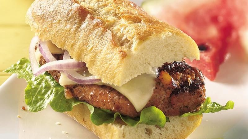 Grilled Italian Turkey  Burgers