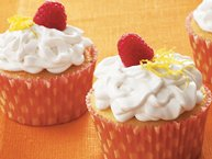 Raspberry-Filled Lemon Cupcakes