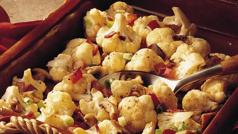 Baked Cauliflower and Mushrooms