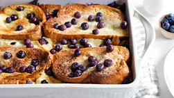 Overnight Blueberry-Lemon-Cream Cheese French Toast