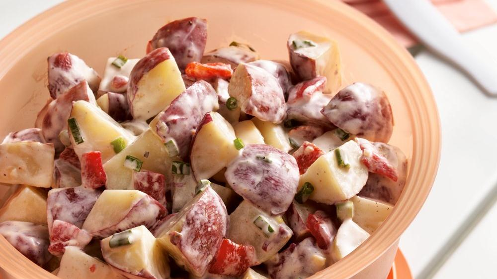 Roasted Red Pepper Potato Salad