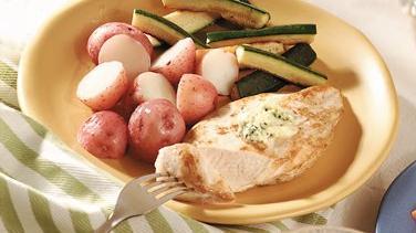 Chicken with Parsley-Garlic Butter