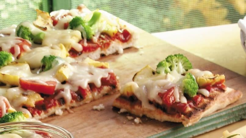 Grilled Fresh Vegetable Pizza
