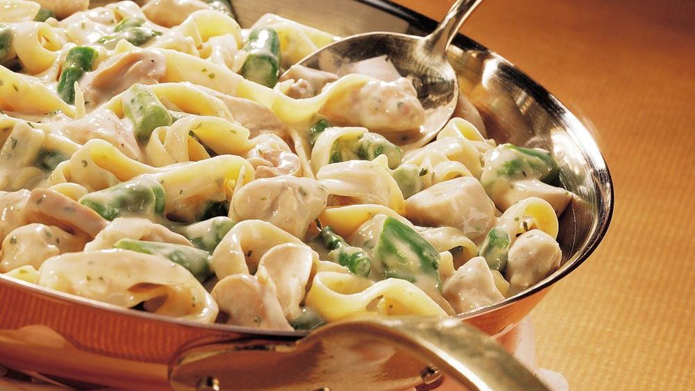 Asparagus Dijon Chicken Fettuccine