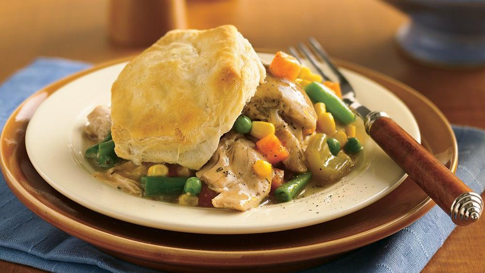 Slow-Cooker Biscuit Chicken Pot Pie (Cooking for Two)