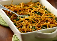 Gluten-Free Green Bean Casserole with Fried Onions