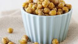 Chili and Lime Roasted Chickpeas