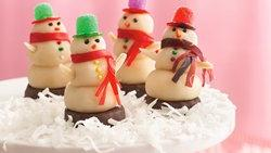 Marzipan Snow People
