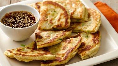 Chinese Pancakes with Ponzu Marmalade Sauce