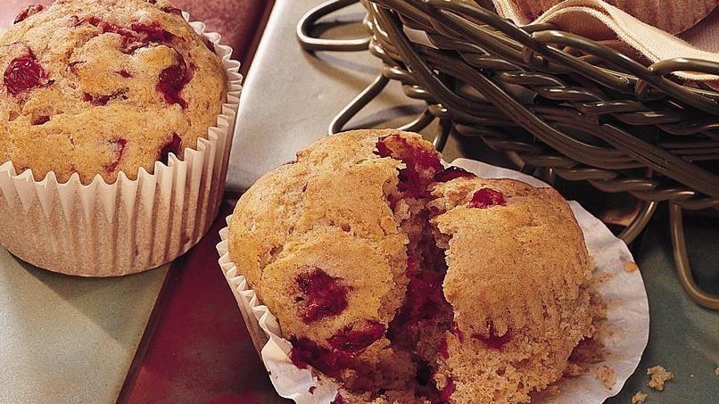 Cranberry-Orange Muffins (lighter recipe)