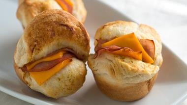 Ham and Cheese Pull Apart Biscuits