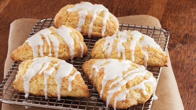 Glazed Orange-Ginger Scones