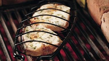 Grilled Halibut with Lime and Cilantro