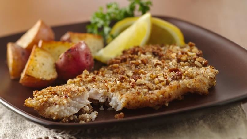Pecan-Crusted Fish Fillets