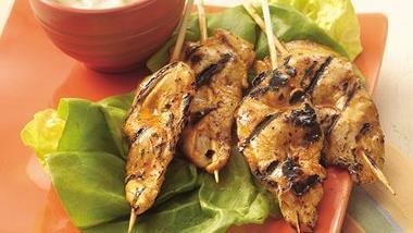 Grilled Buffalo Chicken Sticks