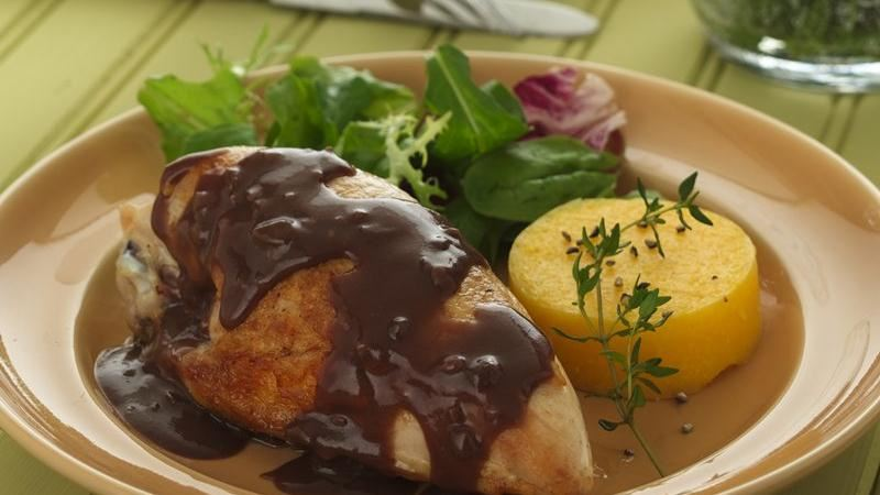 Thyme-Infused Chicken Breasts with Pomegranate Sauce