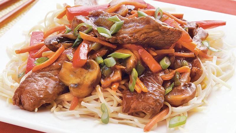 Beef-Mushroom Teriyaki Noodles