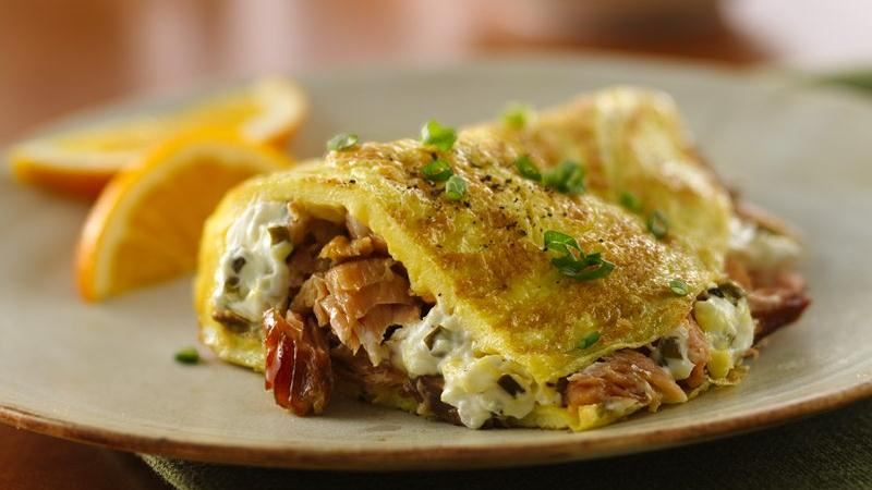 Salmon and Cream Cheese Omelet