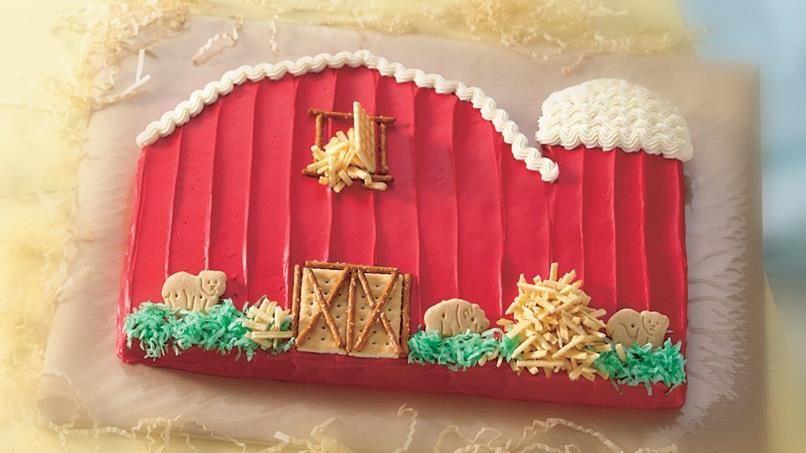 Little Red Barn Cake