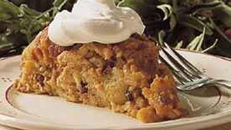 Pumpkin Bread Pudding (lighter recipe)