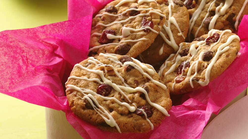 Double Chocolate Cranberry Cookies (Crowd Size)