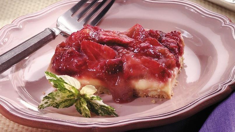 Rhubarb Cream Dessert Squares
